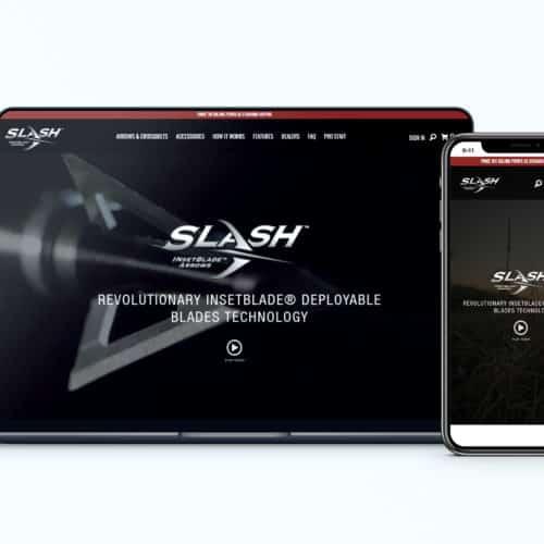 Shopify Design and Development Client Slash Arrows