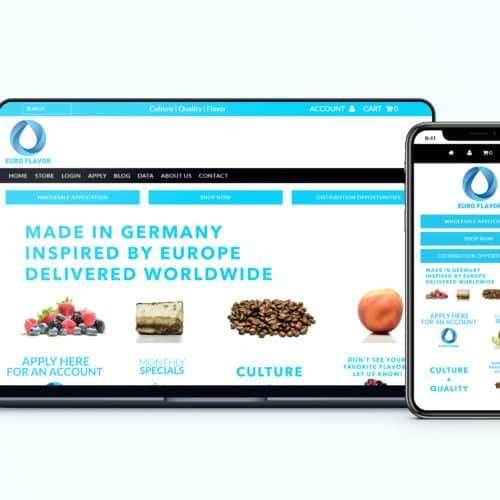 Shopify Design and Development Client EuroFlavor