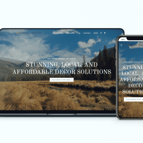 Shopify Design and Development Client Iconic Idaho