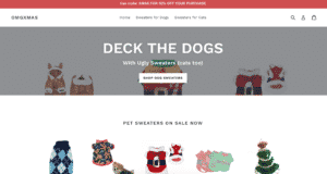 Pixel Rocket Shopify Website Client OMG XMAS Dog Sweaters