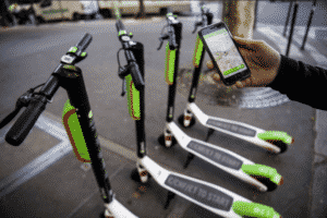lime bike scooters