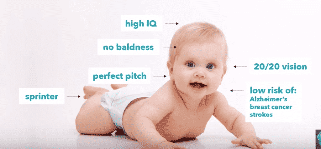 Other designer baby traits commonly discussed